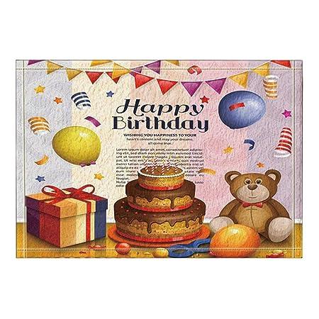 EdCott Torta Oso Regalo para Celebrar cumpleaños Alfombras ...