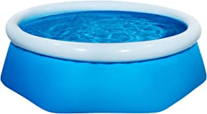 CORATED Inflatable Swimming Pool for Kids and Adults, Above Ground Pools for Family Outdoor, Garden, Backyard Summer Water Party (8Ft x 26In)