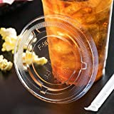 Cheap Premium Quality 16 Oz Clear Plastic Cups By Kozypak – Strong, Durable Cups 100-Pcs Set With Lids – Ideal For Coffee, Alcohol, Soda, Water & Other – Suitable For Home & Professional Use