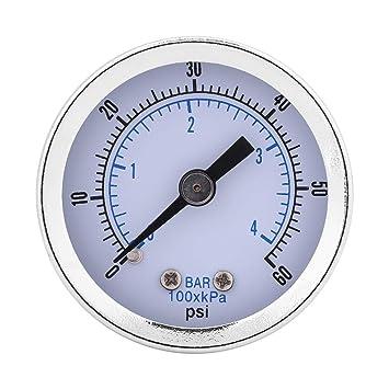 0-60PSI 0-4Bar Pneumatisches hydraulisches Luftmanometer