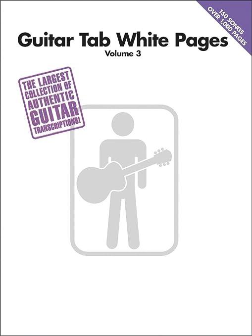 Guitar Tab White Pages Volume 3. Partituras para Acorde de ...