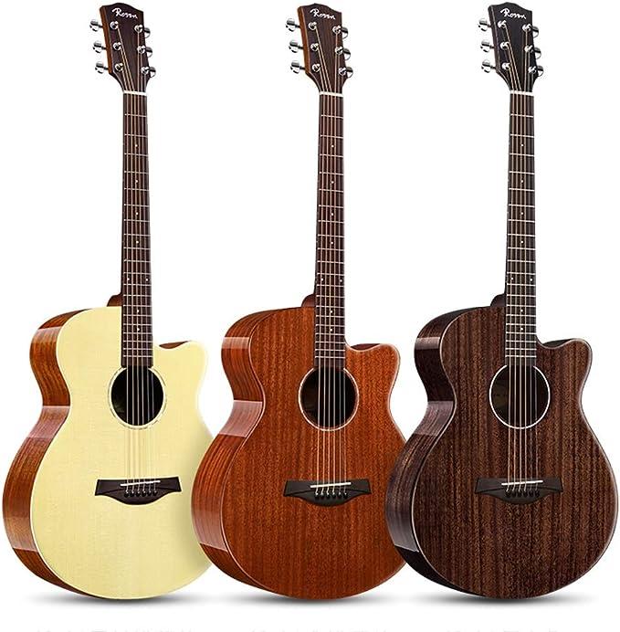 Loivrn Guitarra acústica de 40 pulgadas, 4/4 de tamaño Mini ...