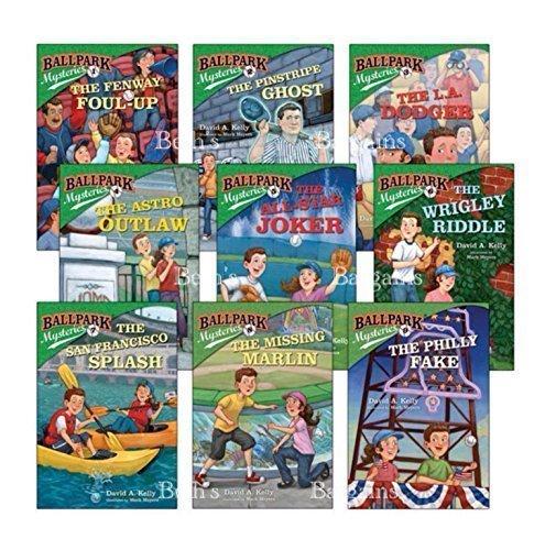 9 Books: Ballpark Mysteries - Fenway Foul Up, Pinstripe Ghost, LA Dodger, Astro Outlaw, All Star Joker, Wrigley Riddle, San Francisco Splash, Missing Marlin, Philly Fake ()