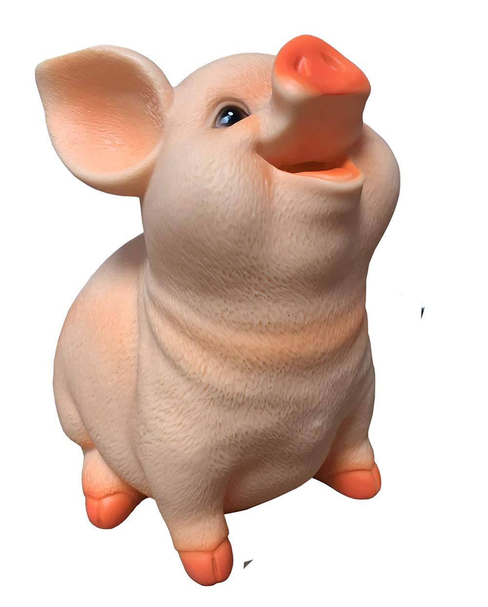Mysika Pig Piggy Bankホーム樹脂クラフトOrnamentsお金ボックス現金コインバンクfor Boys Girls   B07CZD9G6J