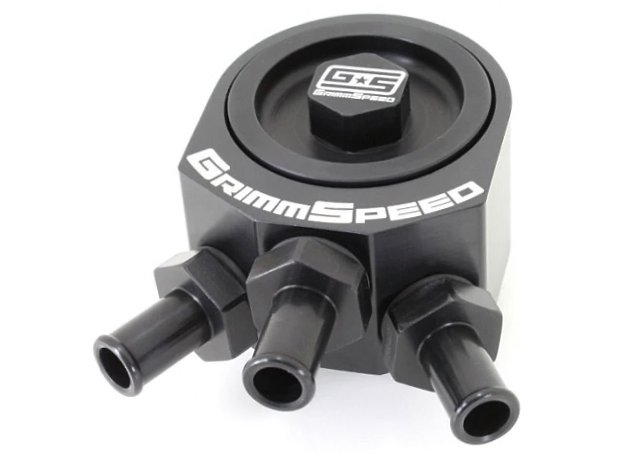 STi BLACK Air Oil Separator GrimmSpeed 02-07 WRX 04-10