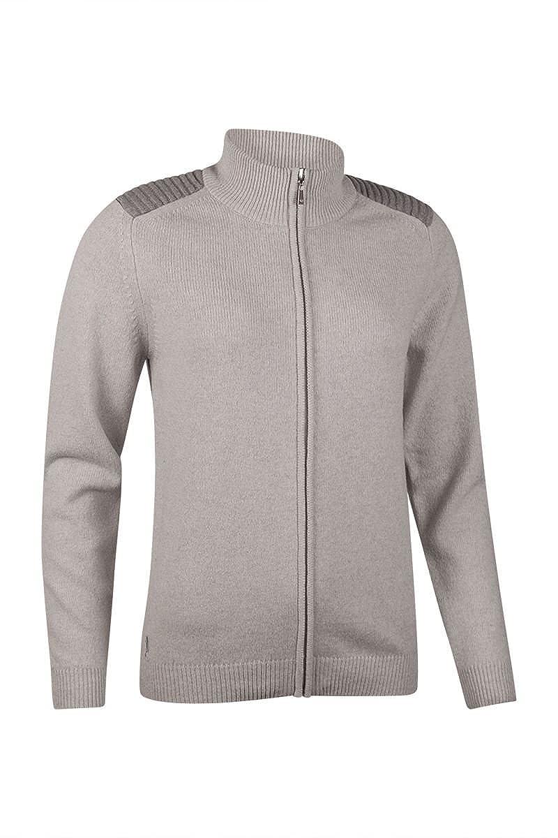 Glenmuir SWEATER レディース L Pearl Grey/Soft Grey B0761QX6DV