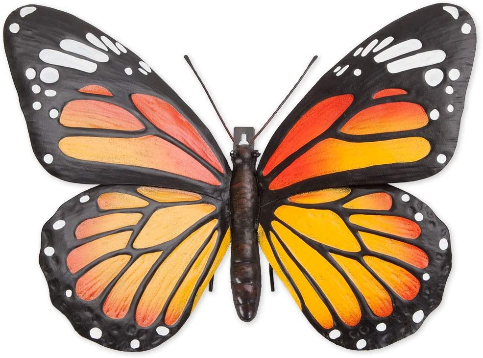 Bits and Pieces - Metal Monarch Butterfly Wall Art - Decorative Hanging Wall Sculpture for Your Home