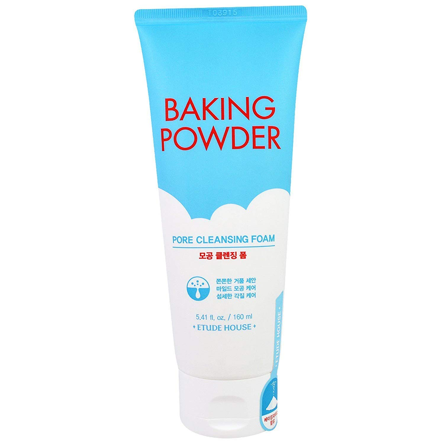 Etude House Baking Powder Pore Cleansing Foam 5 41 fl oz 160 ml | Multi-Deep Cleansing Foam to Remove Dead Cells, Impurities From Pores and Cleanse Away Makeup