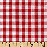 Richland Textiles Richcheck 60in Gingham Check 1/4in Red Fabric By The Yard