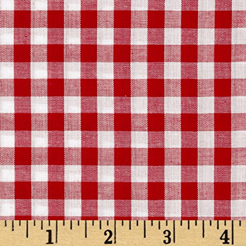 Richland Textiles 0433637 Richcheck 60in Gingham Check 1/4in Red Fabric by The Yard,