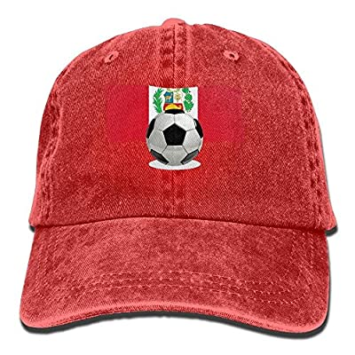 roylery Denim Baseball Cap Soccer Ball with Peru Flag Men Women Snapback Casquettes Adjustable Baseball Cap
