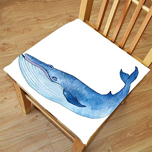 Nalahome Set of 2 Waterproof Cozy Seat Protector Cushion Whale Decor Water Colored Hand Drawing Giant Whale Drawing Art Paint Image Blue White and Light Blue Printing Size - Step By Drawing Sunglasses Step