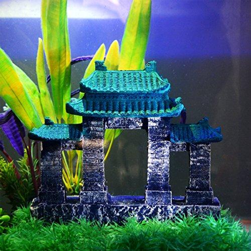 Image of Saim Aquarium Resin Ancient Temple Ruins Ornament Fish Tank Decoration