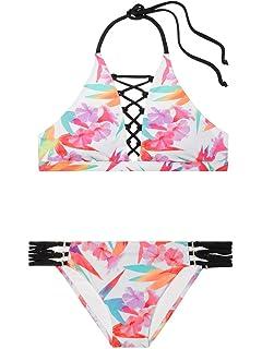 1a975e00ca8 Victoria's Secret Pink Swim Set The Strappy High-Neck Top S The Strappy  Bikini Bottom