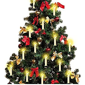 quality led christmas ivory wireless candle lights battery operated flameless candles tuv listed taper - Remote Control Christmas Tree