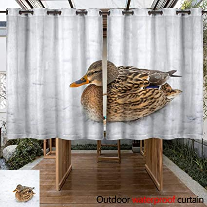 Amazon Com Winfreydecor Outdoor Curtain For Patio Mallard