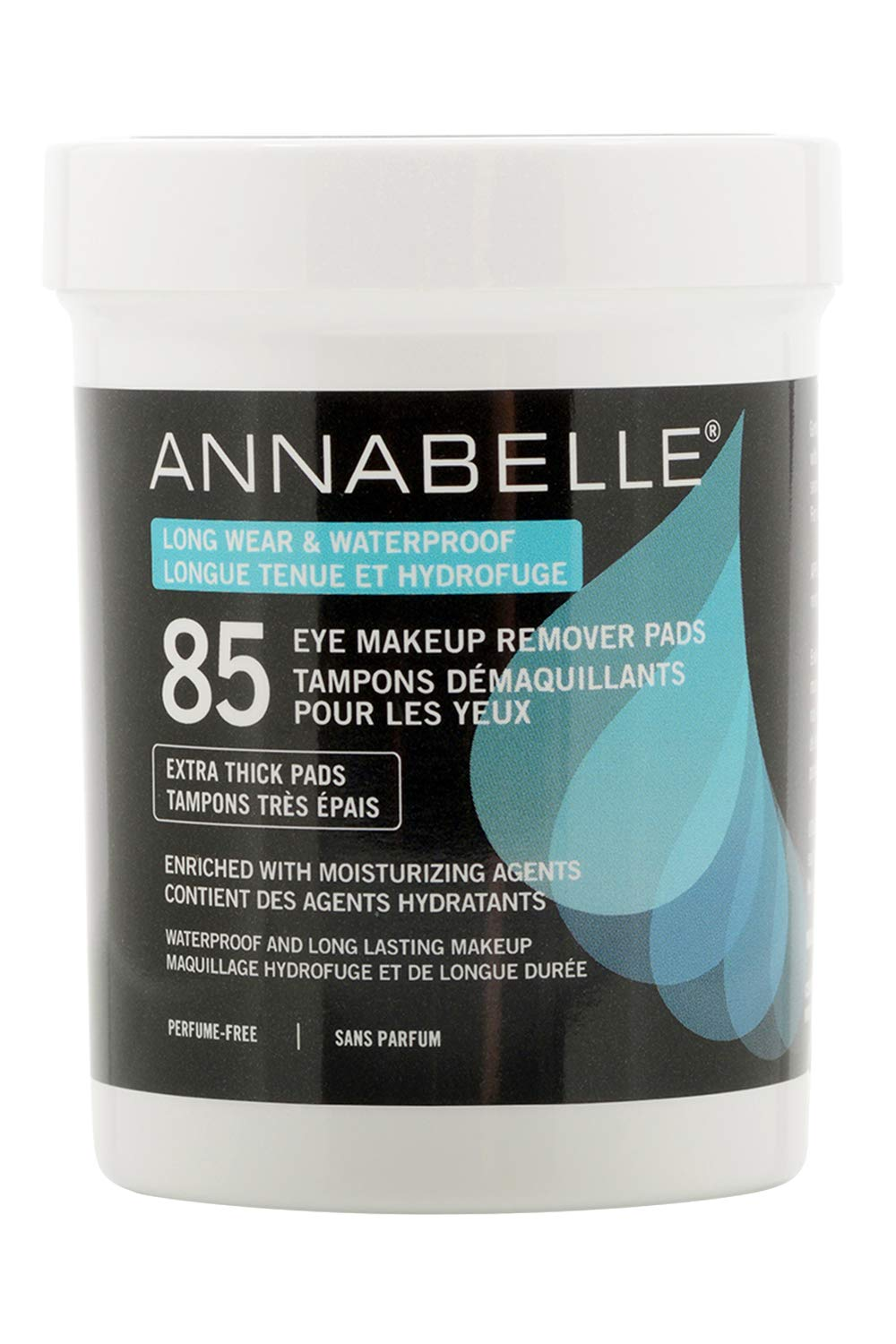 Annabelle Long-Wear & Waterproof Eye Makeup Remover Pads, 85 pads Groupe Marcelle Inc.