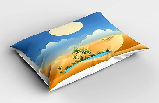 ABAKUHAUS Oasis Funda de Almohada, Tiempo de Verano Desierto, con ...