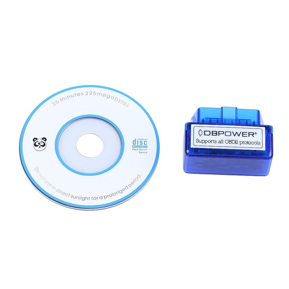 Moonar Mini ELM327 Interfaz Bluetooth V1.5 OBD-II OBD2 Auto Del Coche Herramienta de An/álisis de Diagn/óstico