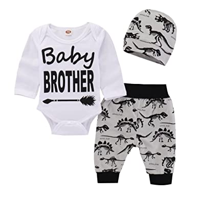 a8ca0147dca3 PROBABY Baby Boy Girl Clothes Baby Bear Romper Bodysuit + Bear Pants + Hat  3pcs Outfits