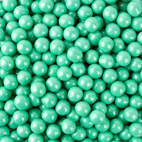 Sweetworks Turquoise Shimmer Sixlets 1 lb -