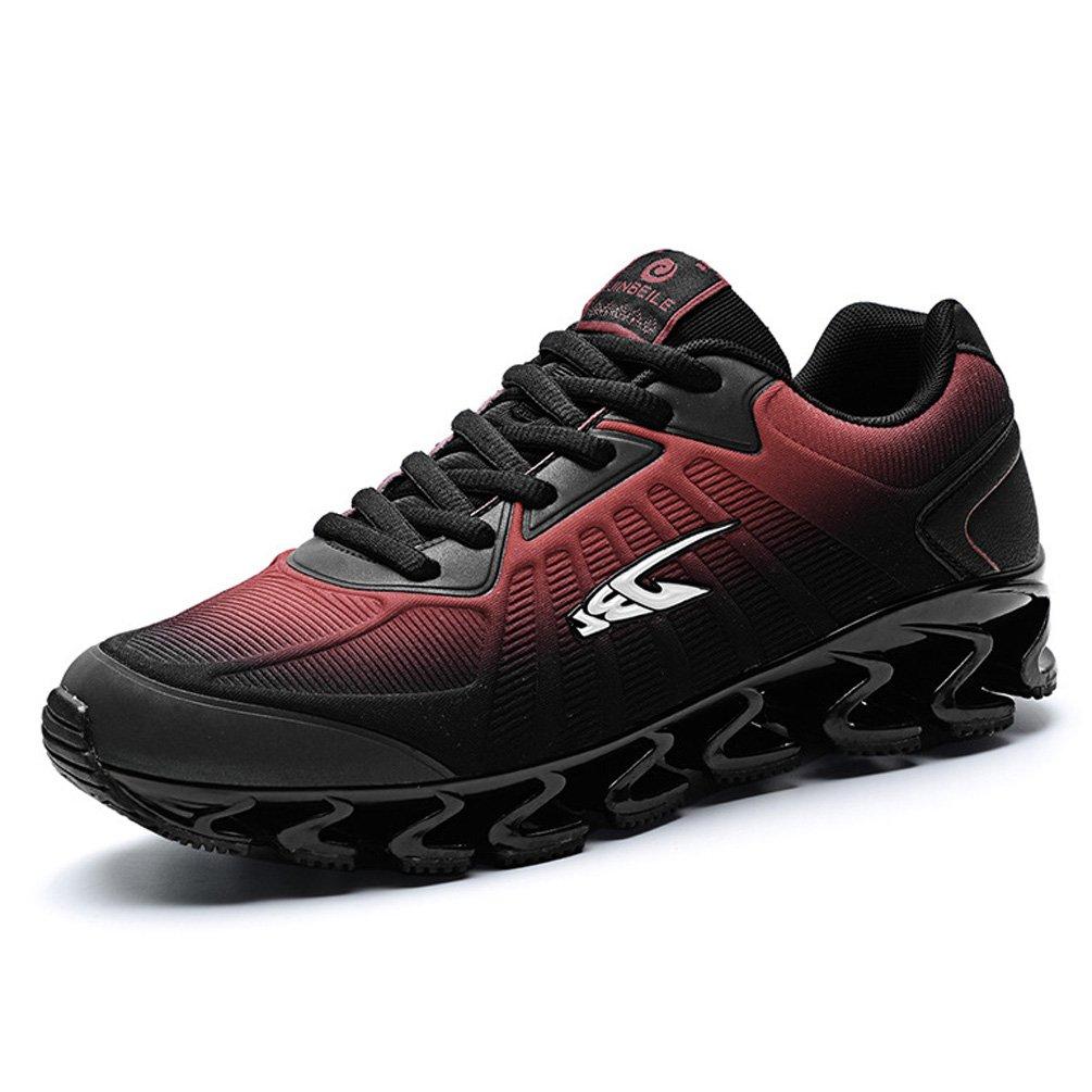 LFEU Zapatillas de Running de Material Sintético Hombre 41 EU negro y rojo