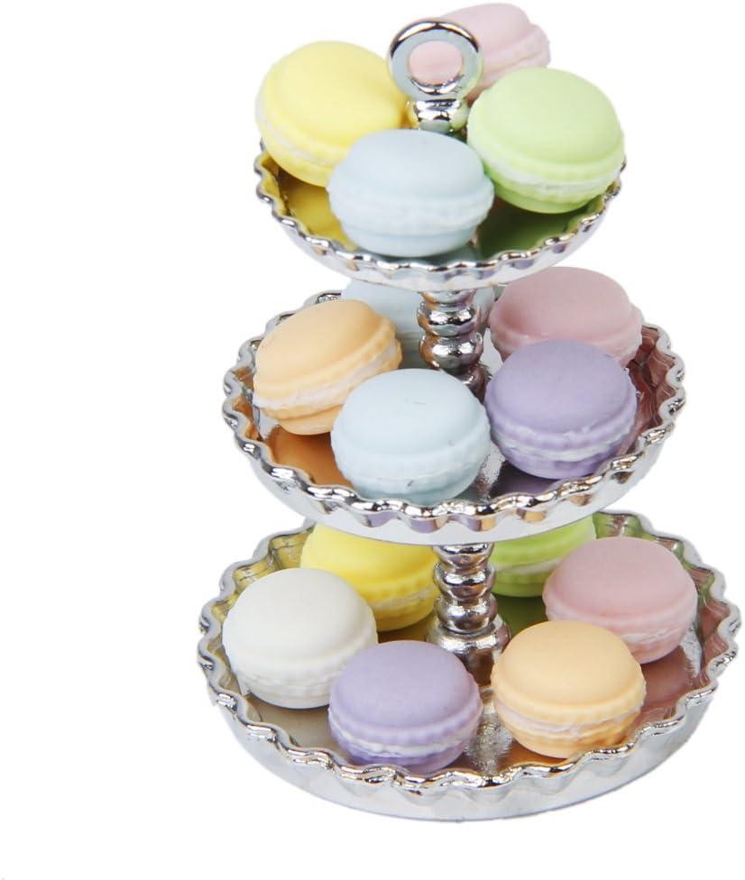 Esquirla 15PCS Clay Dollhouse Accessories Miniature Cream Cake Set Multicolor