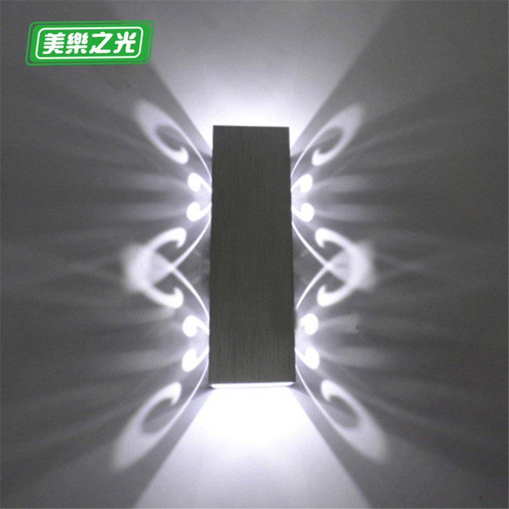 Industrial Vintage Wandleuchte Wandleuchte Schlafzimmer Bett warmen Wohnzimmer gang Balkon Treppe kreative Wohnzimmer Wand Lampen,2 W,20cm lang,6cm breit,6cm Led,weißes Licht