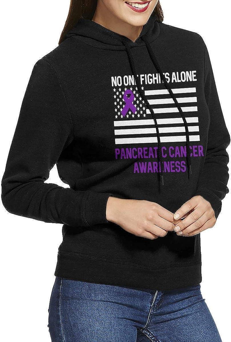 NVWEIYIJW Pancreatic Cancer Awareness Pullover Hoodie Ladies Long Sleeve Tops Hooded Sweatshirts