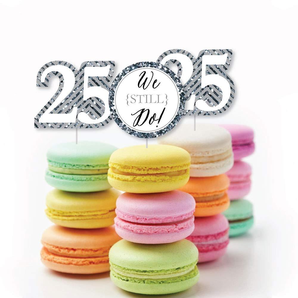 Anniversary Party Clear Treat Picks Wedding Anniversary Treat Picks Dessert Cupcake Toppers Set of 24 Anniversary We Still Do