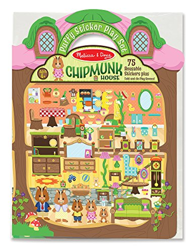 School Play Sticker (Melissa & Doug Puffy Sticker Activity Book: Chipmunk House - Safari)