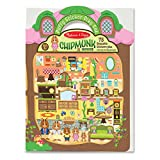 Melissa & Doug Puffy Sticker Activity Book: Chipmunk House - Safari