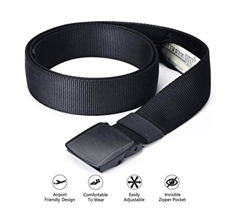 b6214111b956 Amazon.com | Travel Security Belt with Hidden Money Pocket Cash Safe ...
