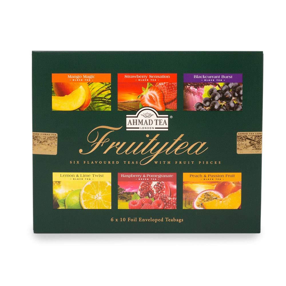Ahmad Tea Fruitytea Variety Gift Box, 60 Foil Enveloped Teabags