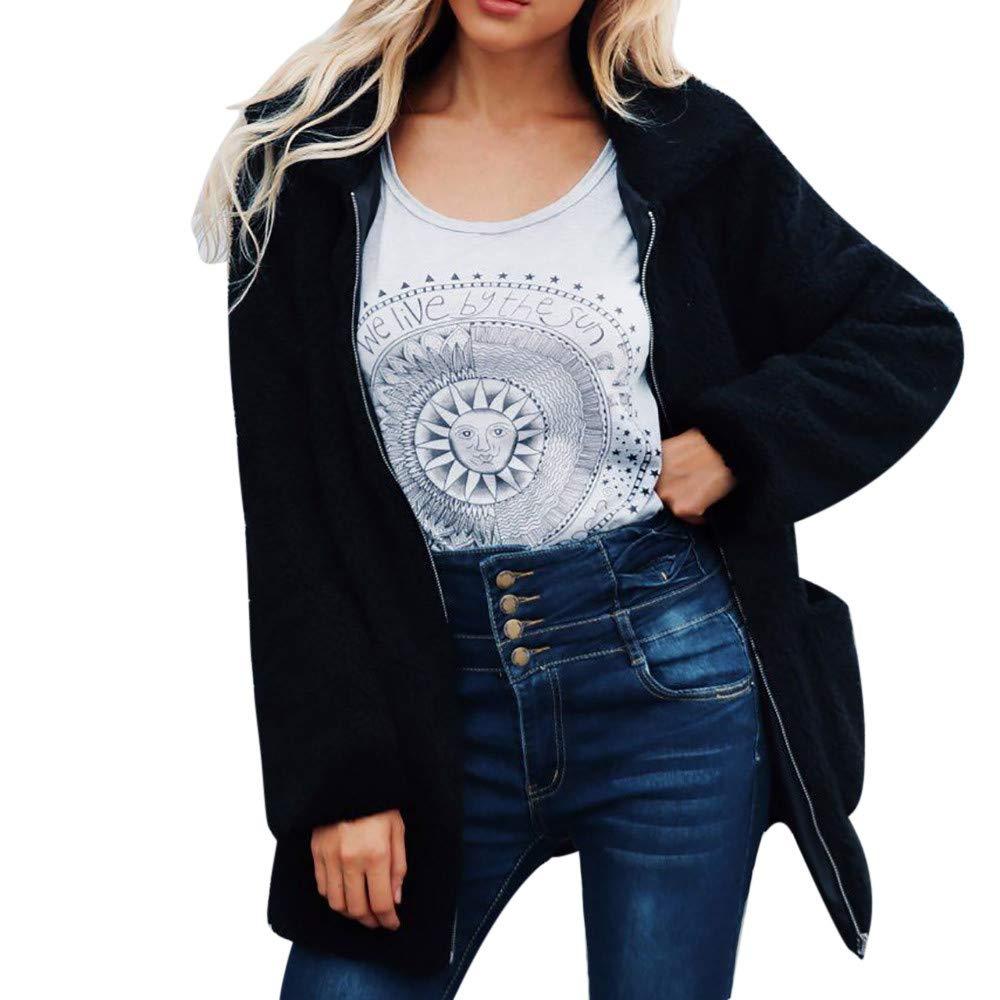 Rovinci☆ Abrigos para Mujer Cálido Abrigo de Lana Artificial Chaqueta con Cremallera Invierno Parka Prendas de Abrigo: Amazon.es: Ropa y accesorios