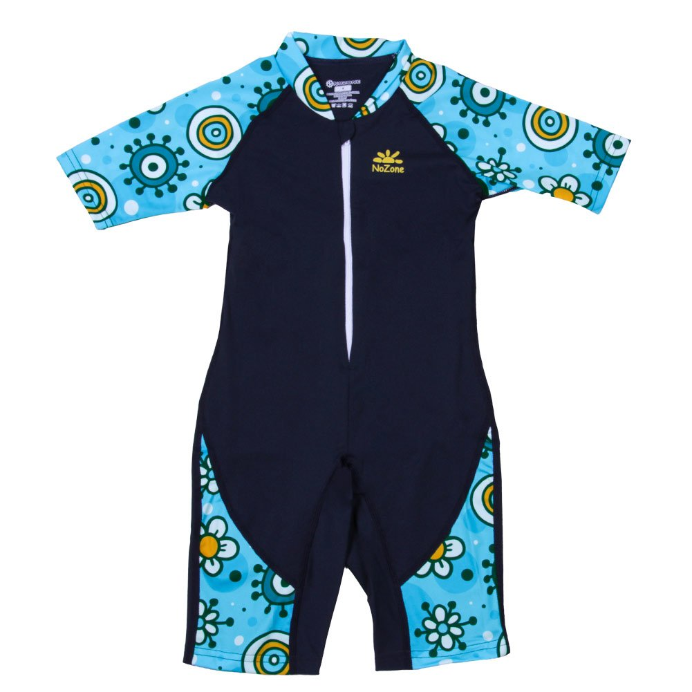Nozone Kids Ultimate One-Piece Sun Protective Swimsuit in Navy/Finn, 6 509BYNVPRE6