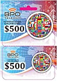 $500 Prepaid Local and International Calling Card for Cheap Calls Worldwide! No Hidden Fees!