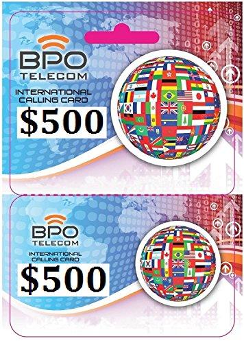 $500 Prepaid Local and International Calling Card for Cheap Calls Worldwide! No Hidden Fees! by BPO TELECOM