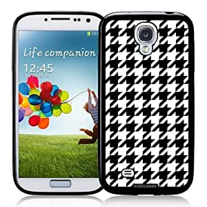 Cool Painting Houndstooth Pattern - Black - Protective Designer BLACK Case - Fits Samsung Galaxy S4 i9500