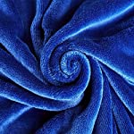 DREAMFLYLIFE-Luxury-Fleece-Blanket-380GSM-Summer-Thick-Blanket-Super-Soft-Blanket-Bed-Warm-Blanket-Couch-Blanket-for-All-Season-Dark-Blue-King-Size-90×108-in