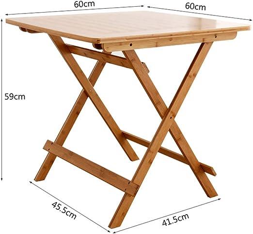 LZ 60cmx60cm Spuare Bandeja de TV Plegable, Bambú Plegable ...