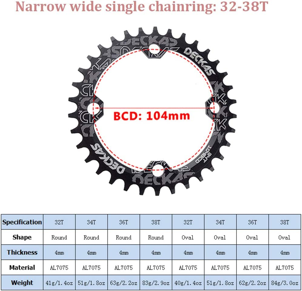 IXF 104//64BCD Crankset 170mm MTB Crank 30-42T Narrow Wide Single Alloy Chainring