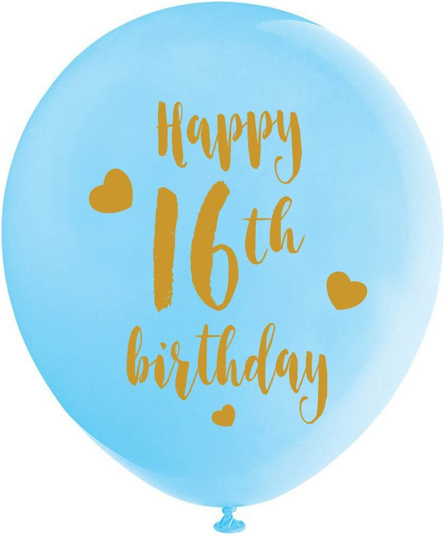 Amazon Com 16th Birthday Decorations For Him And Boys With Black Blue Silver Foil Balloons Party Backdrop Large Jumbo Number 16 Balloon Happy Birthday Banner Toys Games