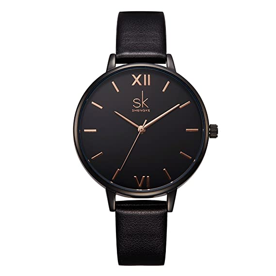SK Fashion Ladies Watches Leather Female Quartz Watch Women Wristwatch Thin Casual Strap Watch Reloj Mujer