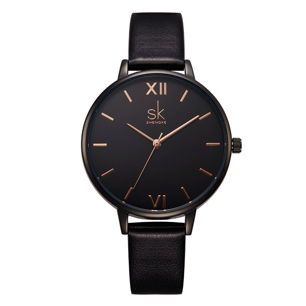 SHENGKE Women Watches Leather Band Decent Casual Geneva Waterproof Creative Ladies Watch reloj de Mujer