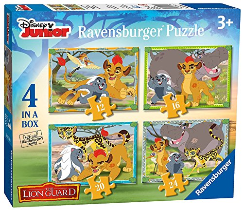 Disney's Lion Guard 4 in a Box Puzzles Ages 3+