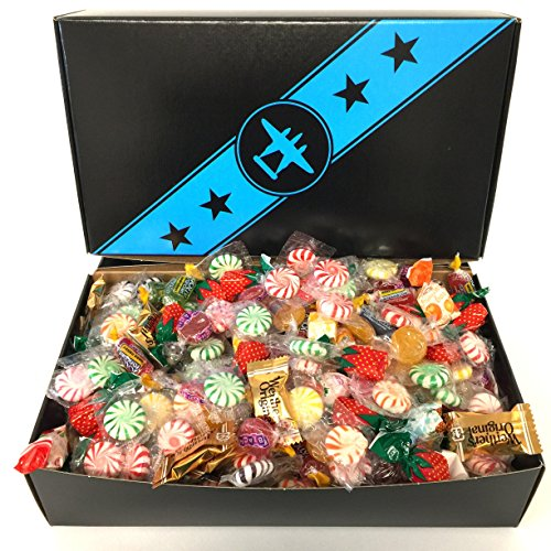 3 pounds of Sunshine Candy Mix, Assorted Hard Candy, in Bomber Gift Box