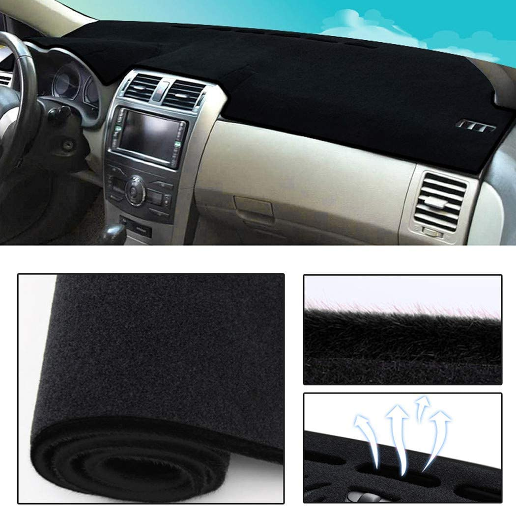 Dashboard Cover Dash Cover Mat Pad Custom Fit for Toyota Prius 2004-2009 Model Set Black Line