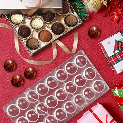 - Jeteven Semi-Sphere Chocolate Mould PC Polycarbonate Chocolate Mold 24-Piece Tray