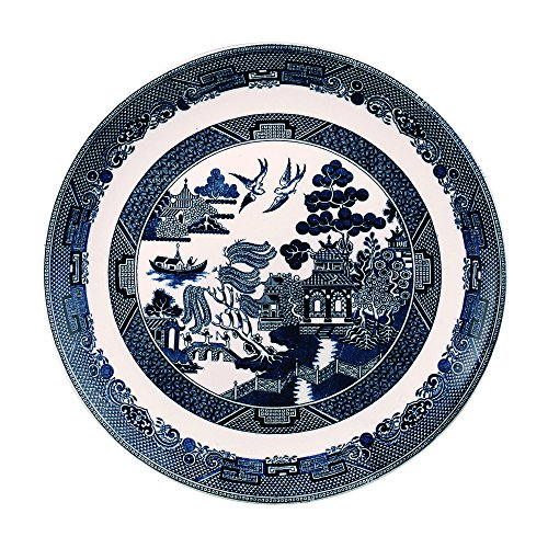 """Johnson Brothers Willow Blue Dinner Plate 11"""", Blue"""